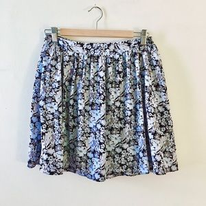 Floral skirt with pockets summer pleated mini